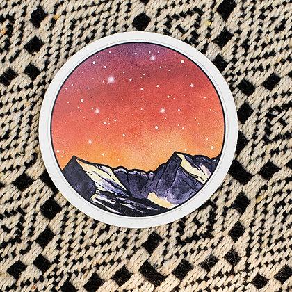 Red Night Sky Sticker