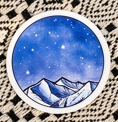 Blue Night Sky Sticker