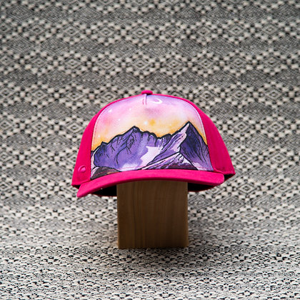 Pink Mountain Hat