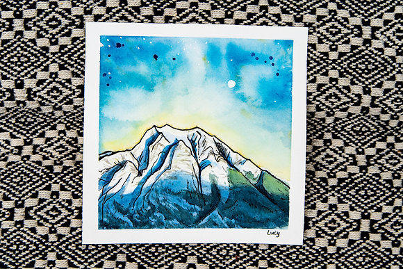 Blue Mountain Watercolour
