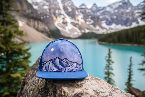 Blue Mesh Mountain Hat