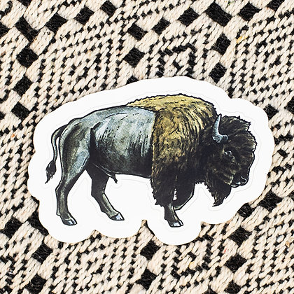 Plains Bison Sticker