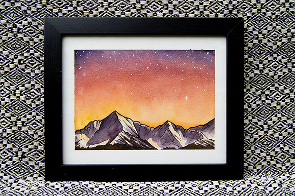Red Mountains - Original Watercolour