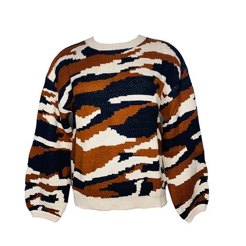 Pixel Camo Sweater Front