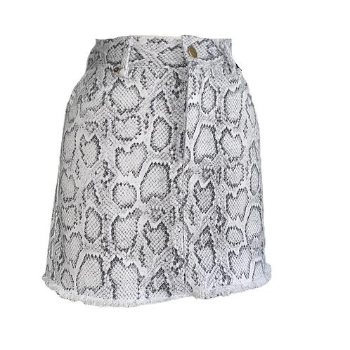 Snake Print Mini Skirt Front View