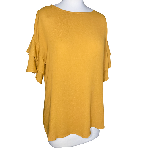 Ruffle Sleeve Top Front View