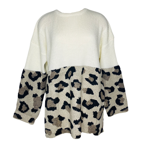 Leopard Sweater Front View