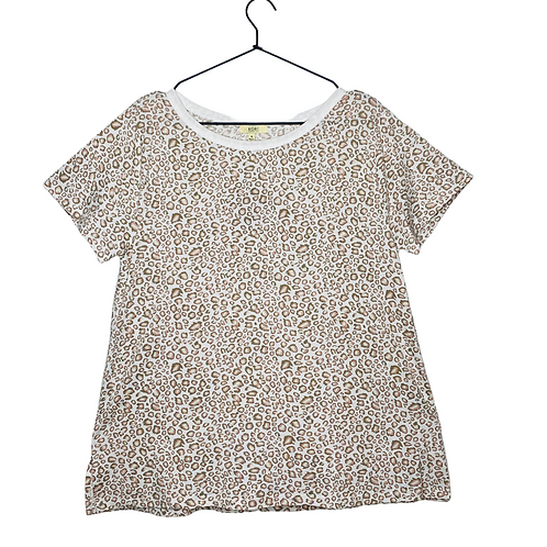 Minty Leopard Tee Front View