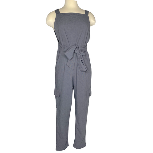 Charcoal Jumpsuit Front View