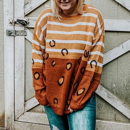 Rusty Leopard Sweater