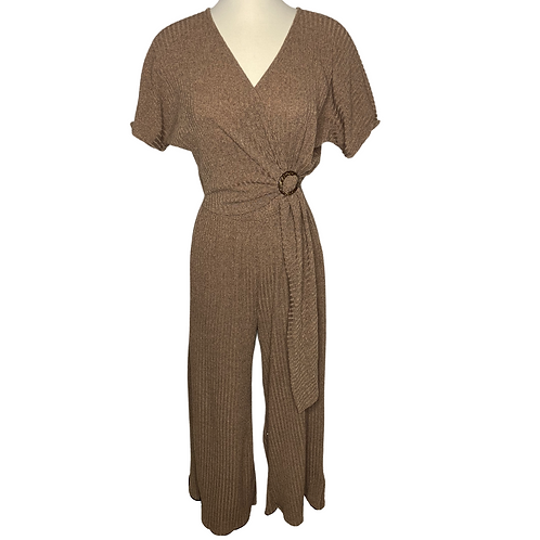 Cross Top Jumpsuit Front View