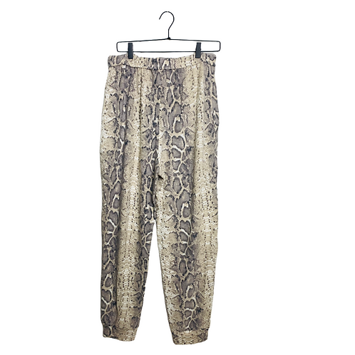 Python printed brushed hacci knit joggers