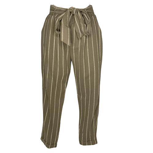 Pin Stripe Pants Front View