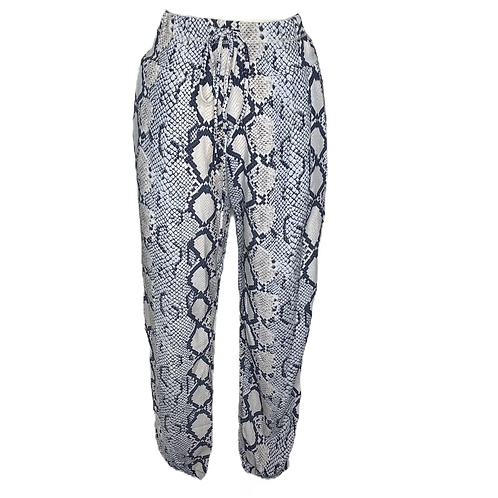 Snake Print Joggers Front View