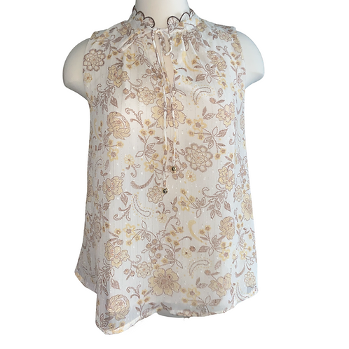 Scallop Neck Top Front View