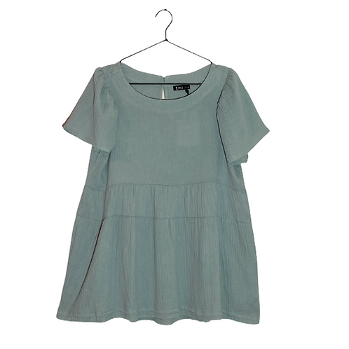 Baby Doll Pocket Tunic Front View Flat