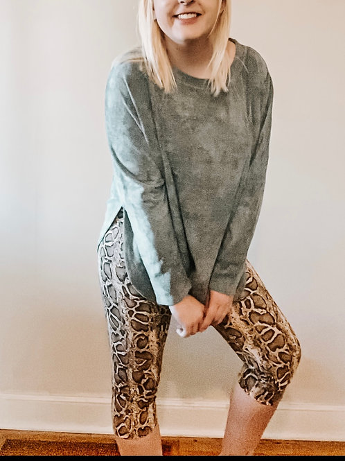 Snake Crop Legging