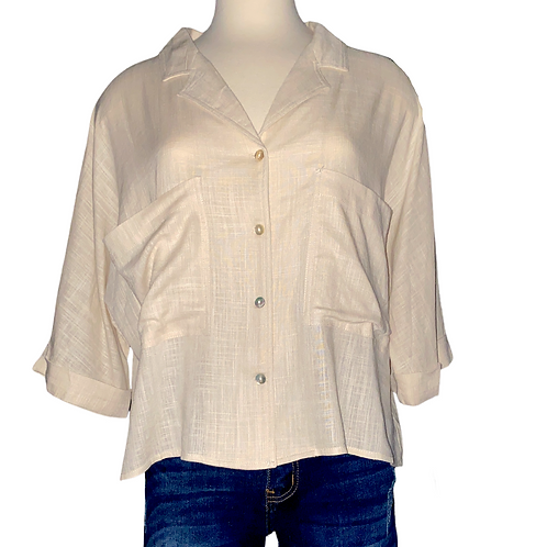 Boxy Popover Top Front View