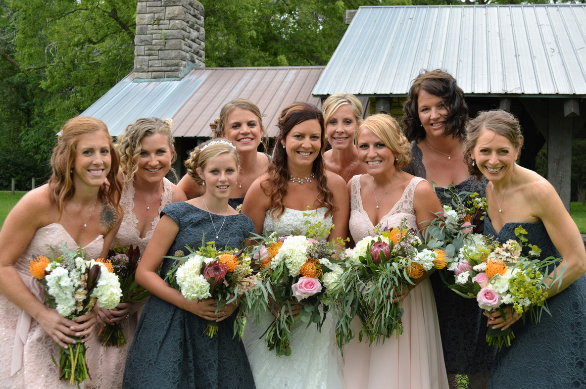 Ginger & her Bridesmaids