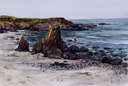 "For Bragg, California  4""x6"" Plein Air Adventure Collection Original Watercolor AVAILABLE"