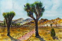"Joshua Tree, California  4""x6"" Plein Air Adventure Collection Originial Watercolor AVAILABLE"