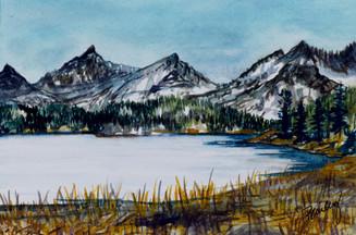 "Box lake, Rock Creek, California  4""x6"" Plein Air Adventure Collection Original Watercolor AVAILABLE"