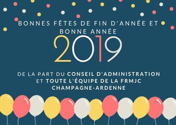 Bonnes fêtes de fin d'année et meilleurs vœux pour l'année 2019 !!