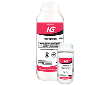 A Vetorial possui a solução certa para o controle de pragas com IG é um larvicida em concentrado emulsionável, regulador de crescimento e de longo efeito residual em frasco coex de 1 litro para pulverização. Utilizado contra moscas e mosquitos.