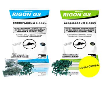 A Vetorial possui a solução certa para o controle de pragas com RIGON GS é um raticidaem sementes integrais e descascadasde girassol pretode dose única,alta palatabilidadee atratividade, em embalagem de 1Kg (granel ou sachês de 20g ou 50g),onde as iscas devem ser colocadas onde os roedores vivem e transitam.Utilizado contraRattus rattuseRattus Novergicus.