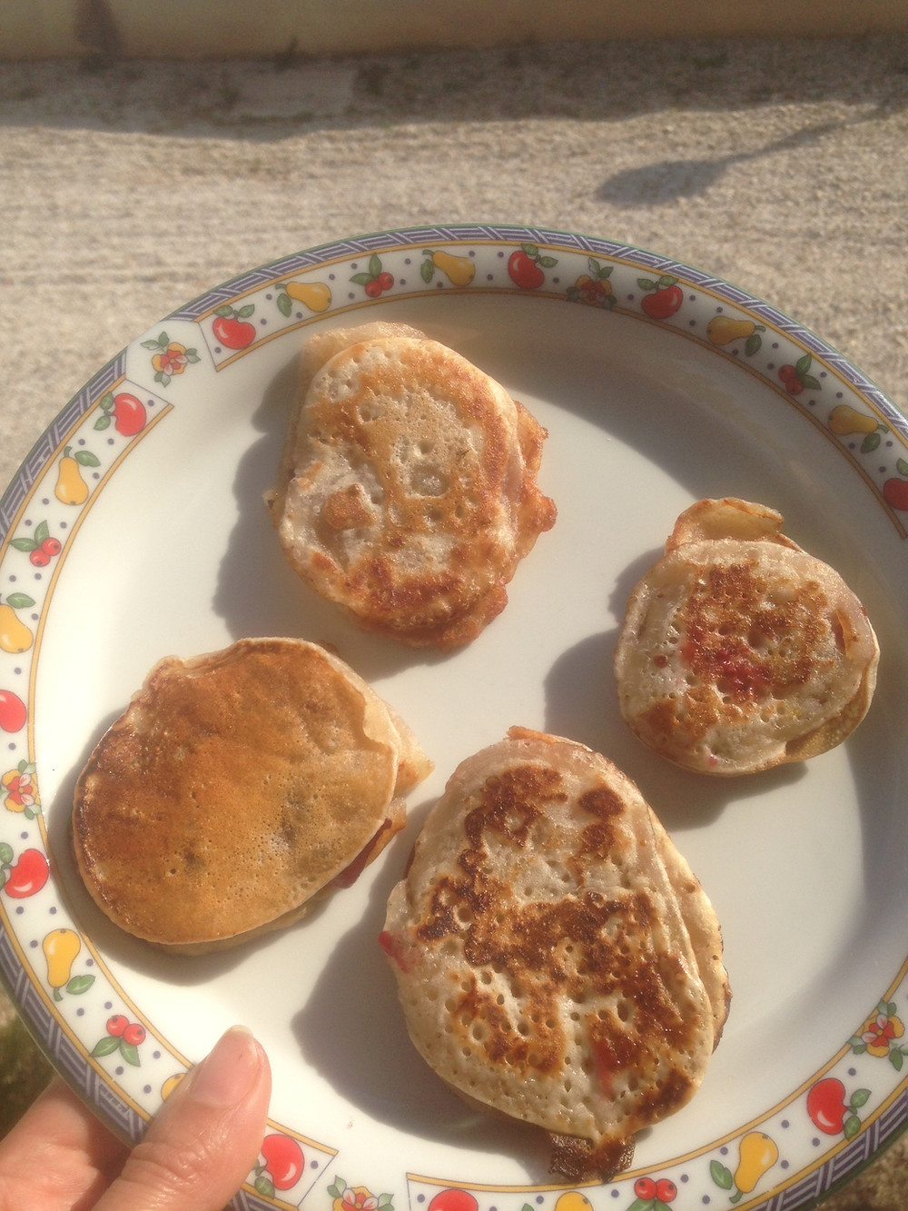 Mehlspeise #vegan Liwanzen Dalken böhmisch #pflanzlich #nachhaltig #Süßspeise #Pfannkuchen #Kombucha