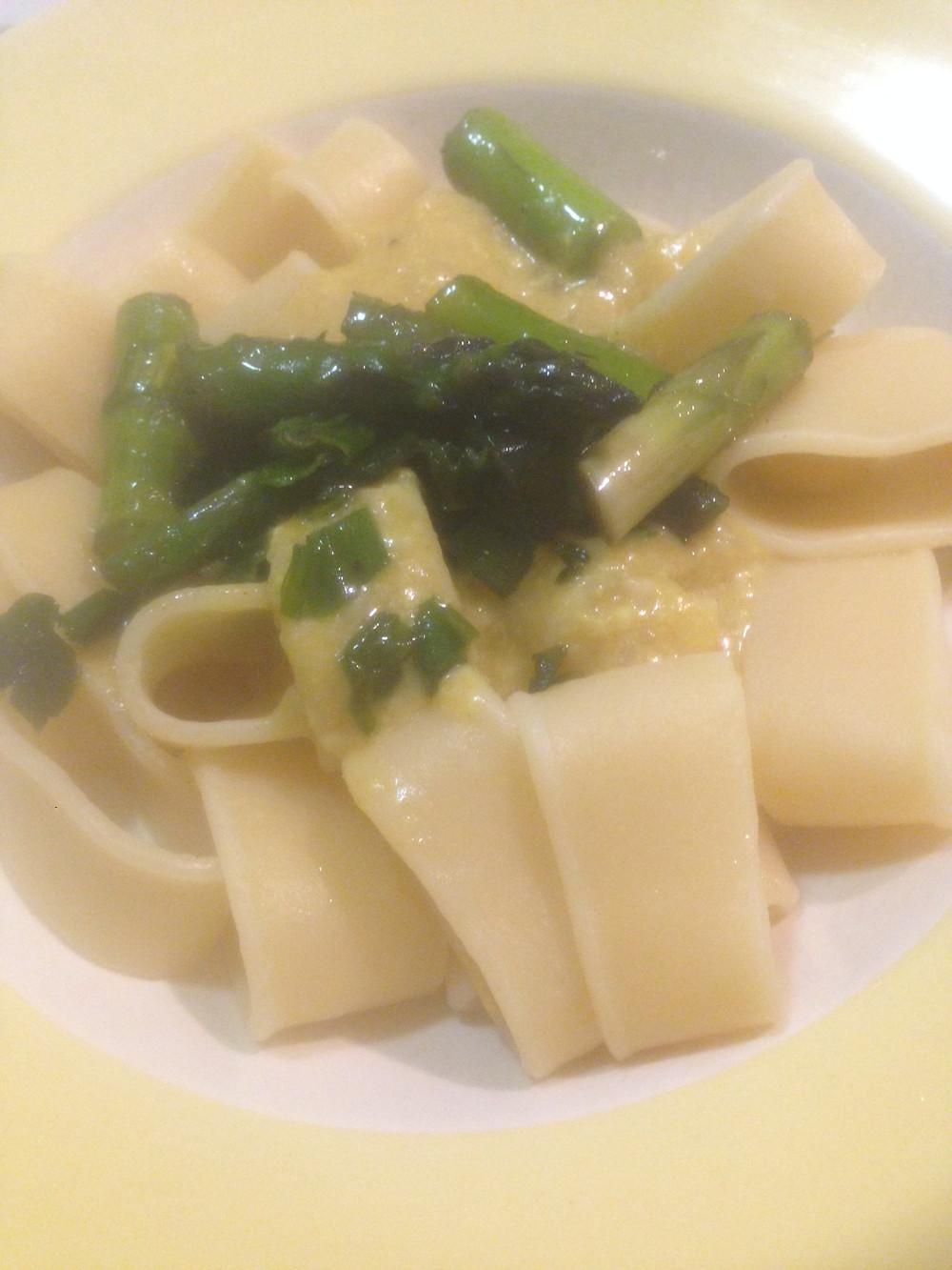 Pasta Spargel Sauce Hollandaise #vegan #DIY #Cashew #pflanzlich
