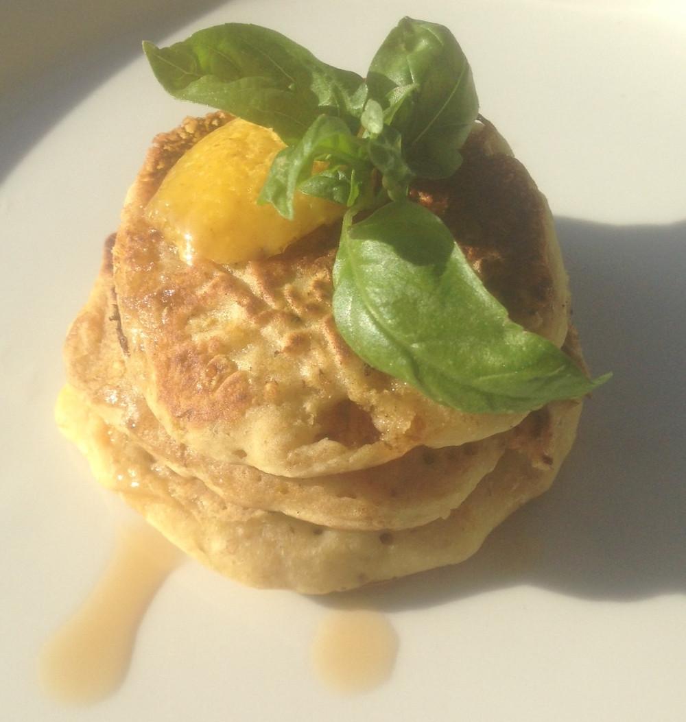 Süßspeise vegan #pflanzlich #pancakes Pfannkuchen Zitronen Frühstück Nachtisch