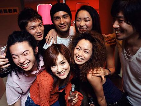 Party machen mit Freunden
