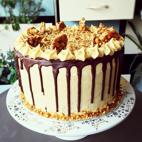 Peanut Butter Drip Cake