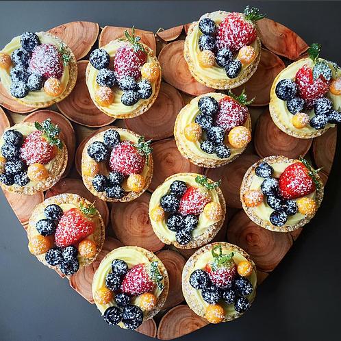 12 Berry Tartlets