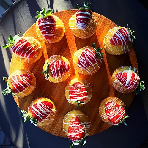 12 Strawberry Mascapone Cakes