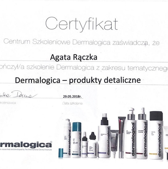 certyfikat dermalogica