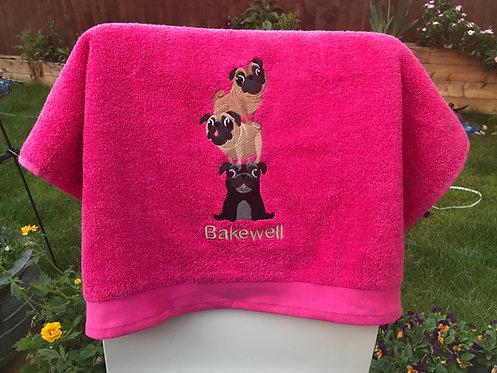 Pug Stack Blanket