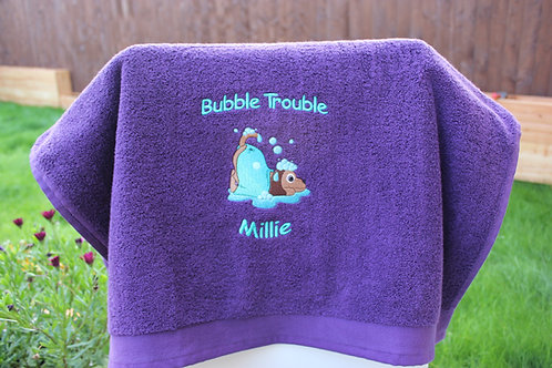 Bubble Trouble Towel