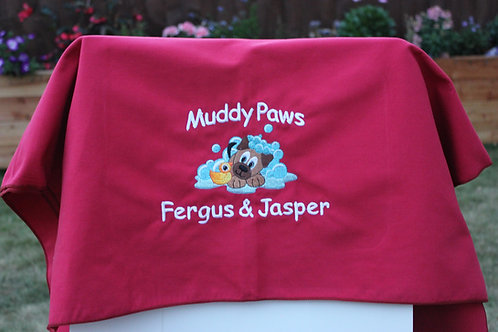 Microfibre Towel - Muddy Paws