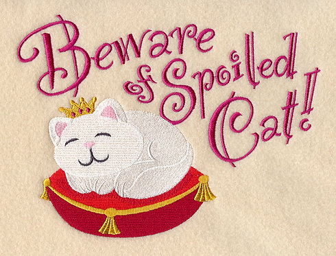 Beware Cat Blanket