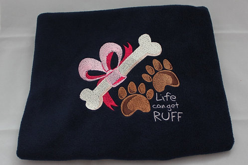 Life Gets Ruff Blanket