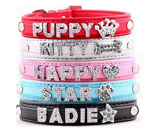 Personalised diamante dog collars