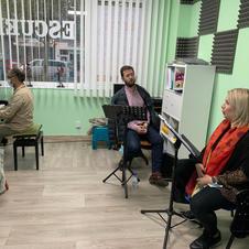 Maite Alberola, Gabriel Alonso y el pianista Juan Carlos Cornelle