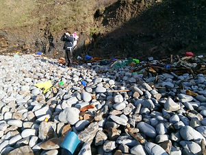 Plastic Pollution on UK Beach