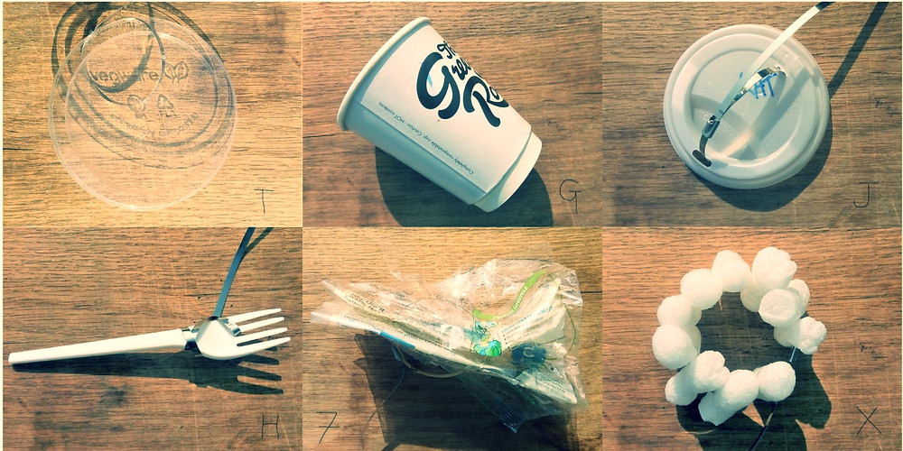 Biocompostable Single-use Items: Coffee Cup, Fork etc.