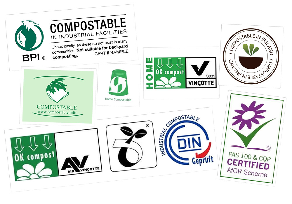 International Compostable Certification Logos