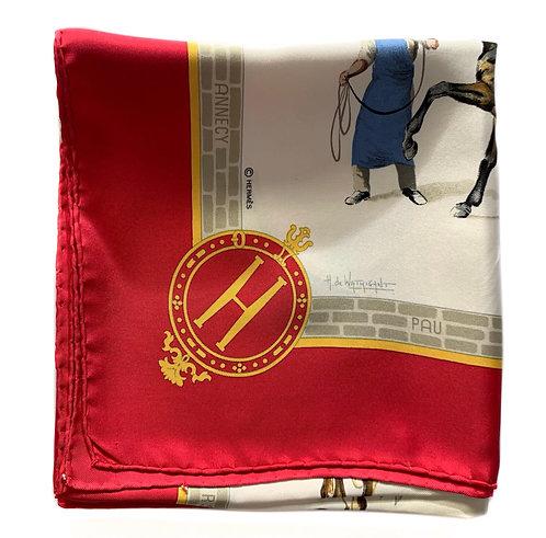 Foulard carré Hermès Les Haras nationaux par H. de Watrigant