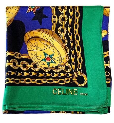 Foulard carré Céline vintage