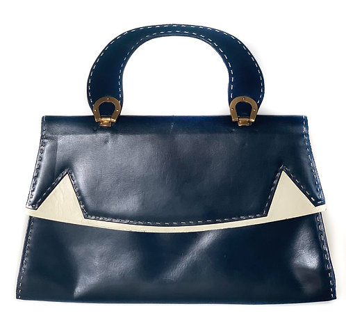 Sac vintage bleu marine